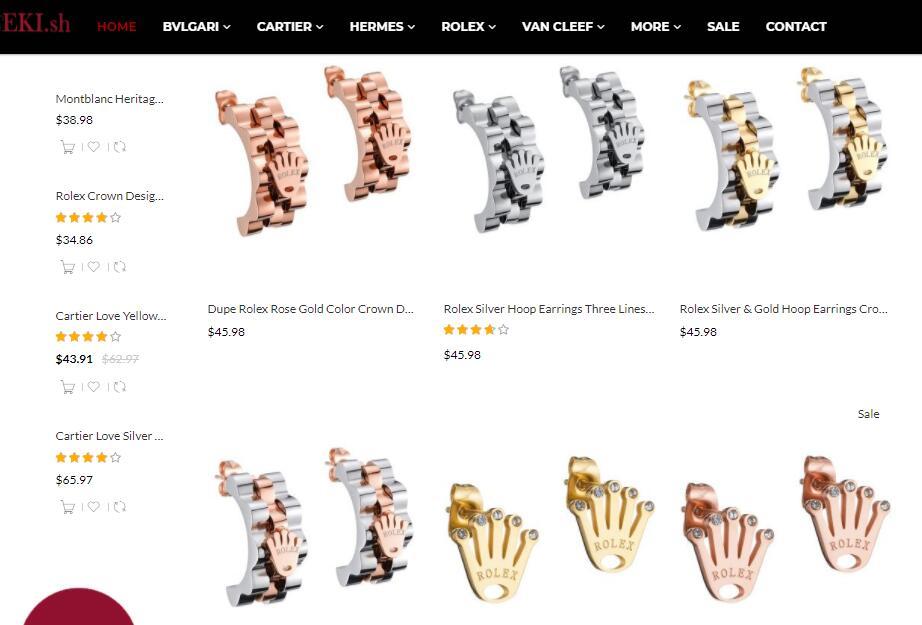 replica rolex earrings sale at elog.io